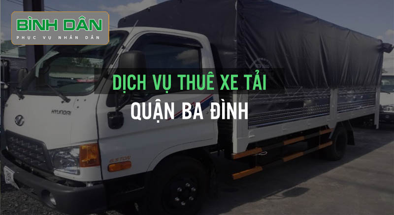 Dịch vụ thuê xe tải quận Ba Đình