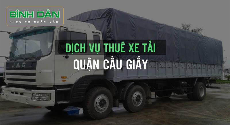 Dịch vụ thuê xe tải quận Cầu Giấy
