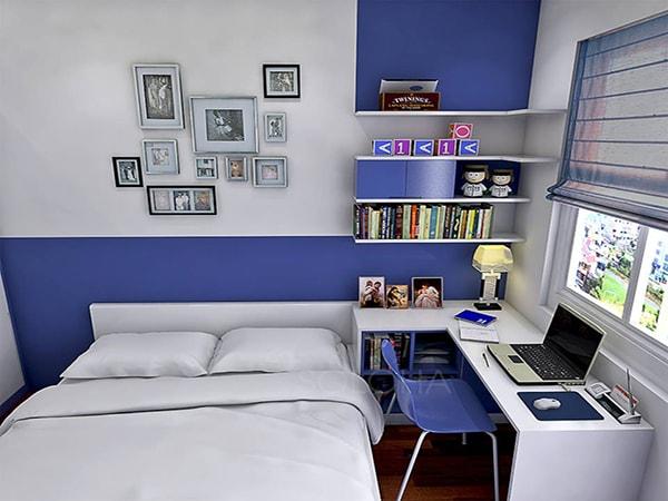 phòng ngủ kết hợp phòng làm việc