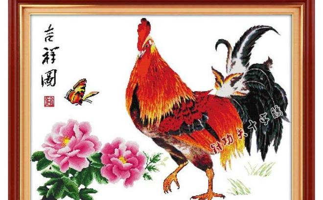 tranh con gà