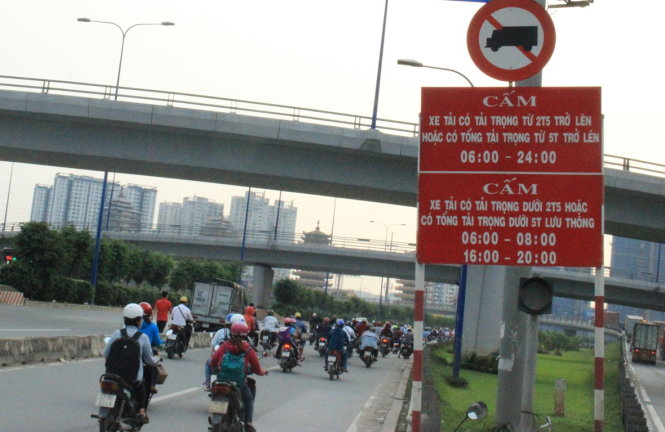 các tuyến đường cấm xe tải ở Hà Nội
